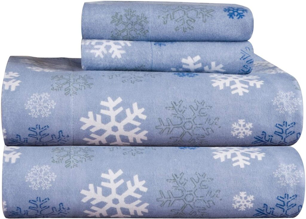 Pointehaven Snow Flakes Sheets - Best Christmas Twin Queen Size