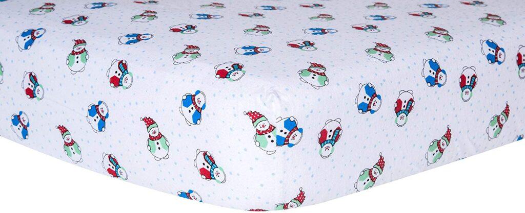 Trend Lab Snowman Sheet - Best Christmas Crib Sheets