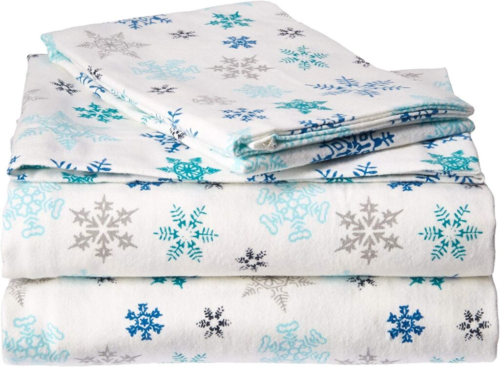 Eddie Bauer Tossed Snowflake Sheets - Best Christmas Sheets Twin Size