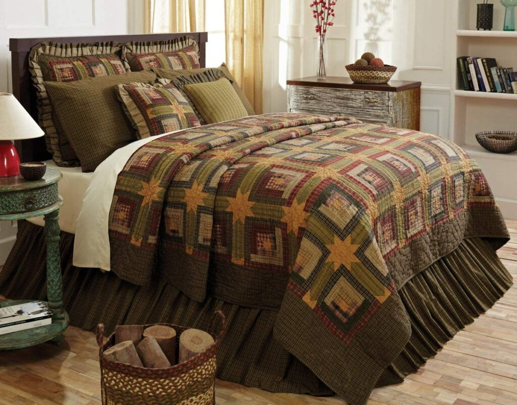 VHC Brands Rustic Christmas Quilt - Best Christmas Bedspreads And Quilts