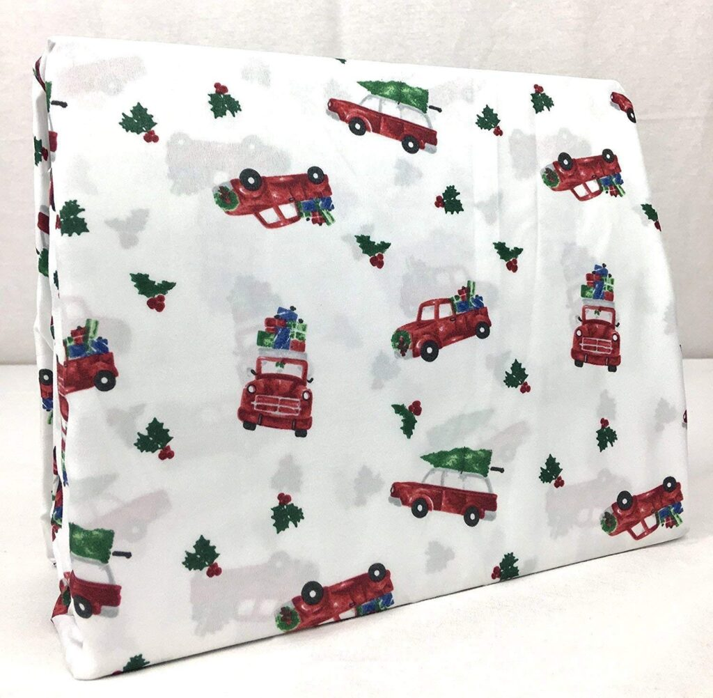 Arctic Red Truck Sheet Set - Red Truck Christmas Sheets