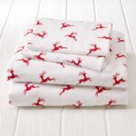 Great Bay Home Reindeer Sheets - Best Christmas Sheets Queen Size
