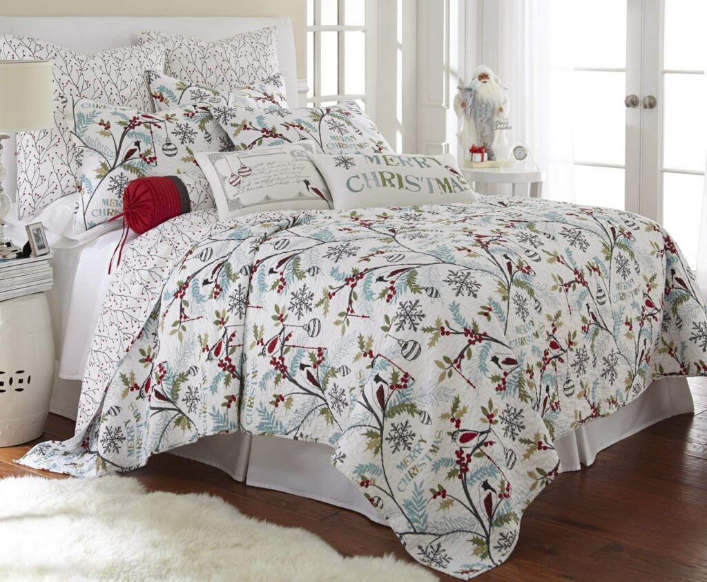 Levtex Christmas Quilt Set - Best Christmas Bedspreads King Size