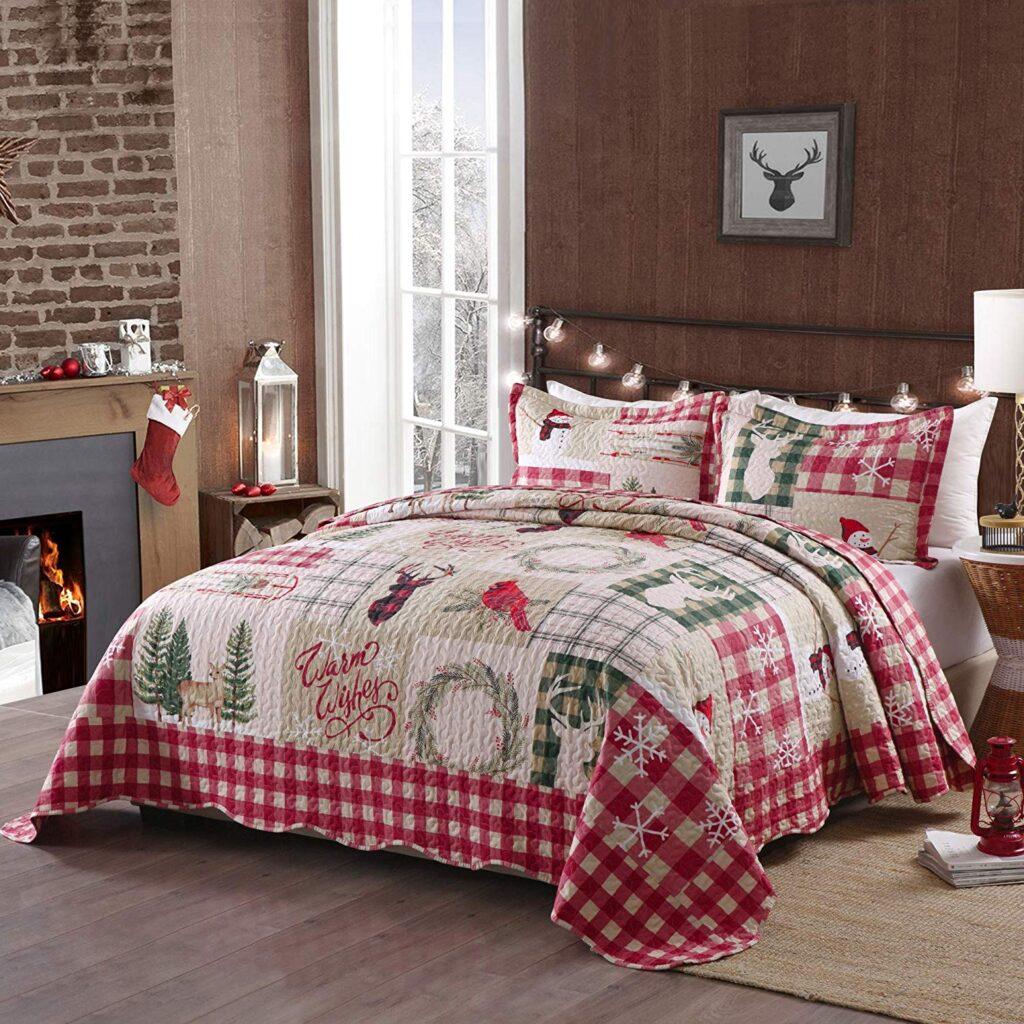 TT Linens Quilt - Christmas Bed Quits