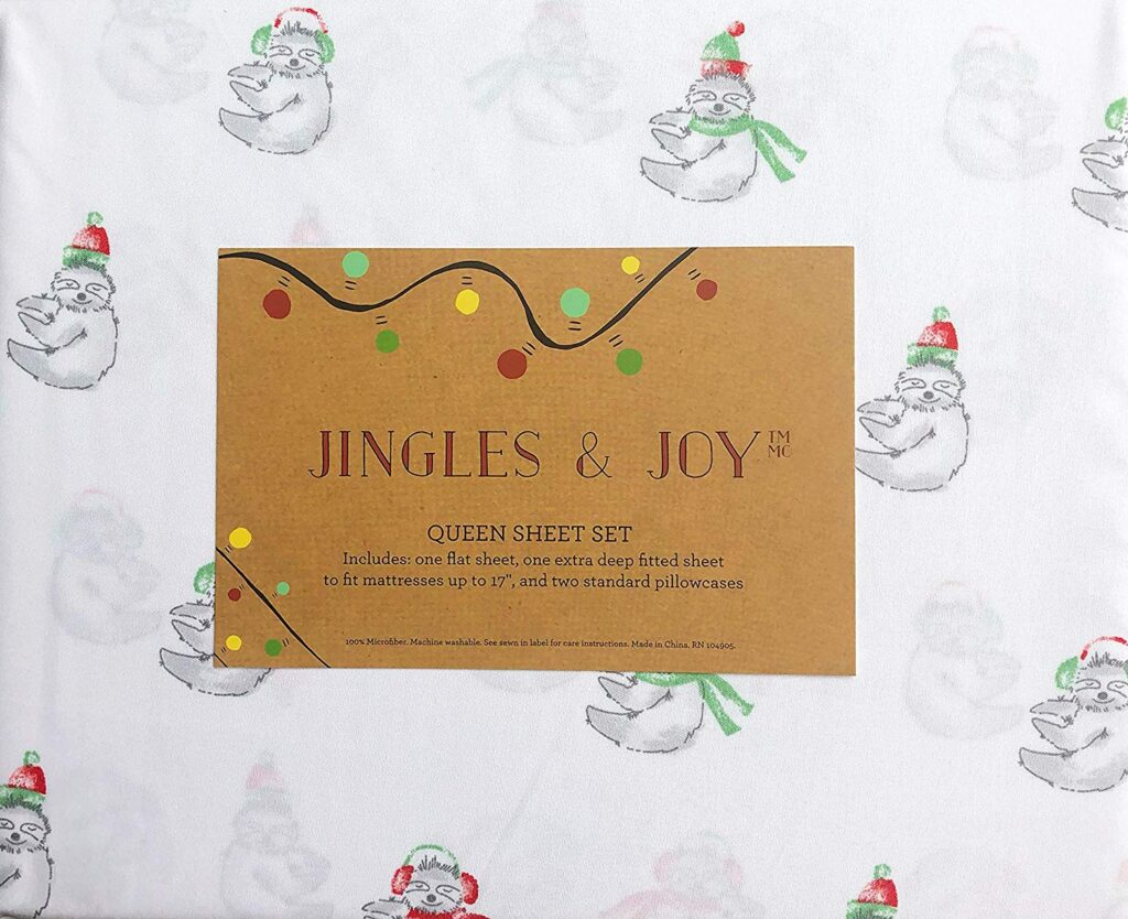 Jingles & Joy Christmas Teddy Bear Sheets - Best Christmas Sheets Queen Size