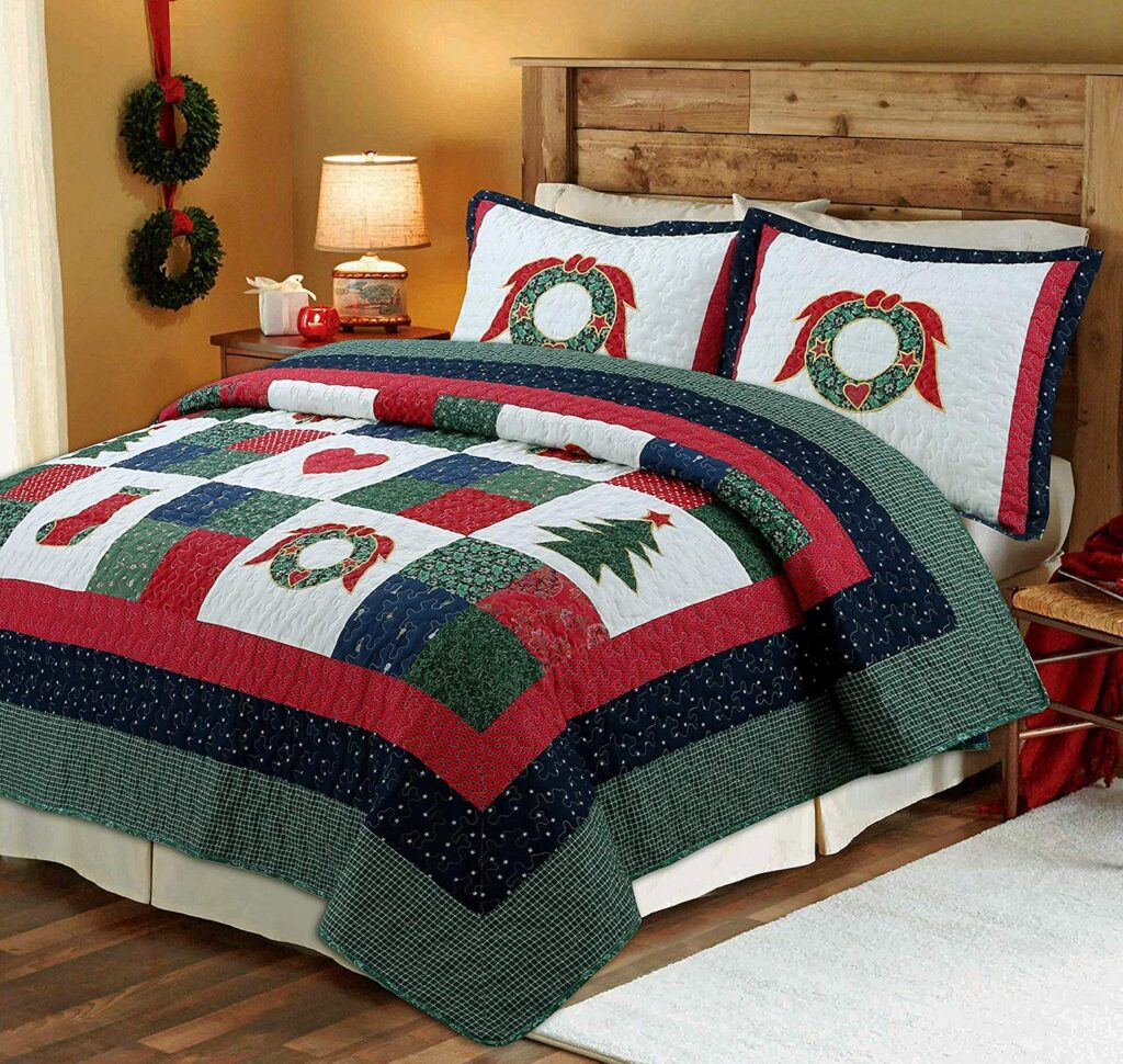 Cozy Line Home Fashions Quilt Set - Best Christmas Bedspreads And Quits
