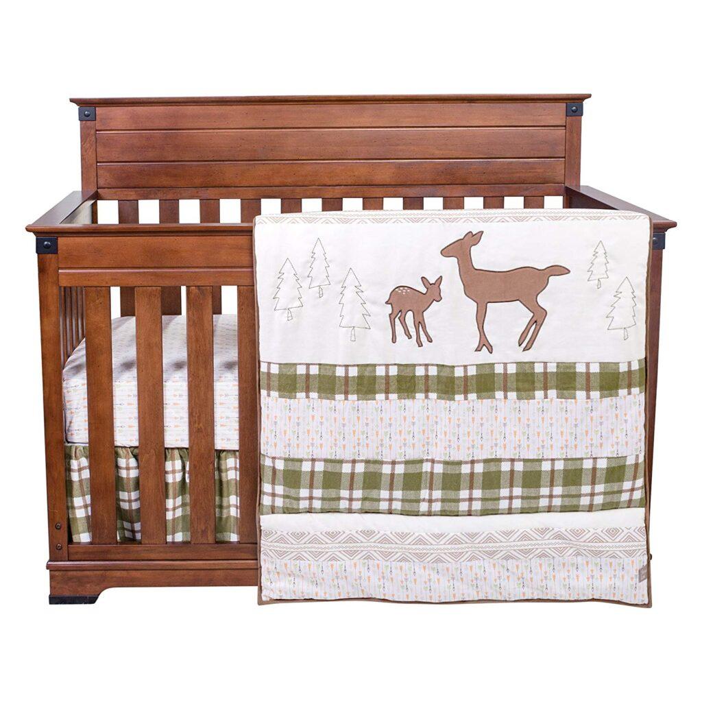 Trend Lab Deer Crib Bedding Set - Best Christmas Crib Sheets