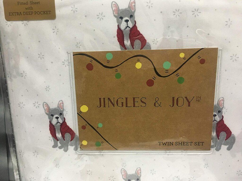 Jingles & Joy Dog Christmas Sheets - Best Christmas sheets twin size
