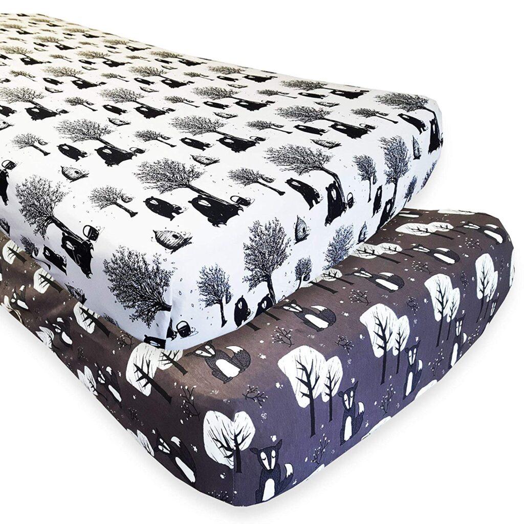 Kaydee Baby 2 Pack Sheet - Best Christmas Crib Sheets