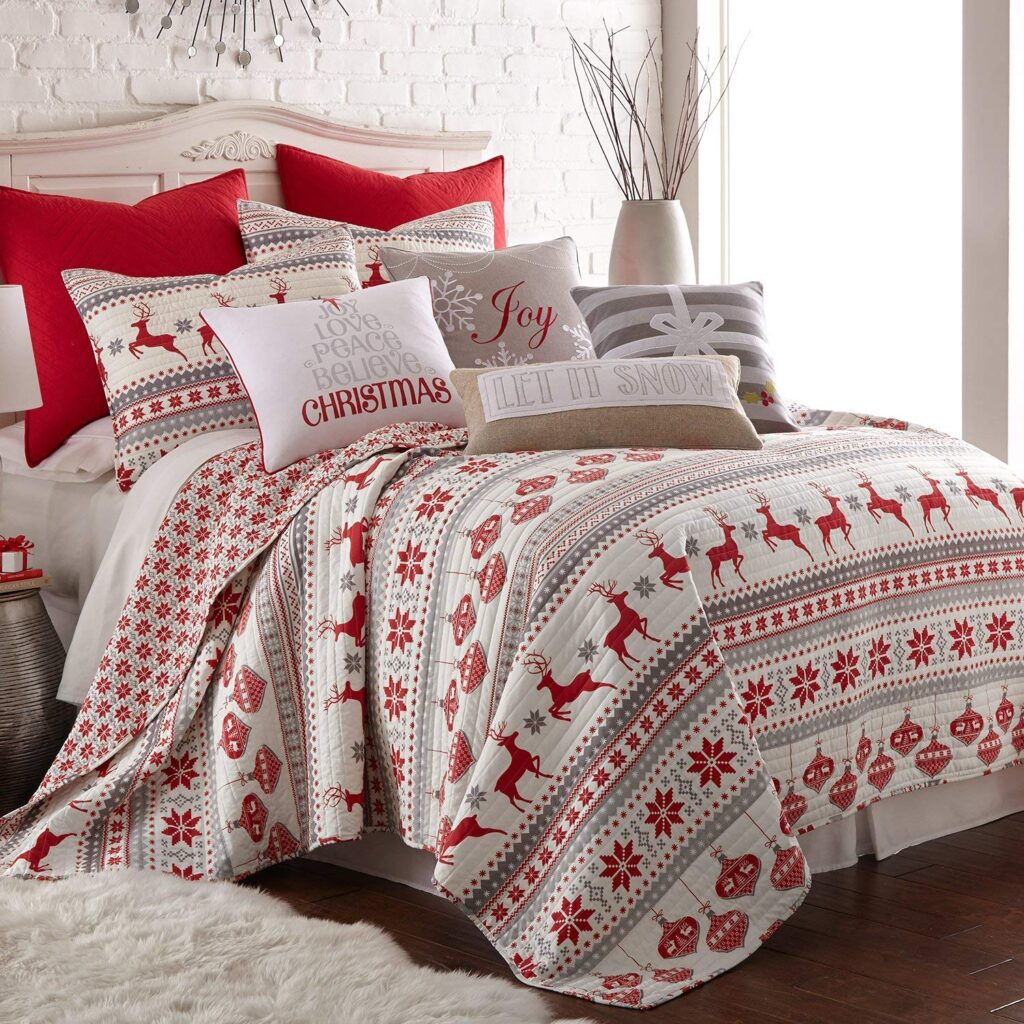 Levtex Silent Night Quilt Set - Best Christmas Bedspreads And Quits