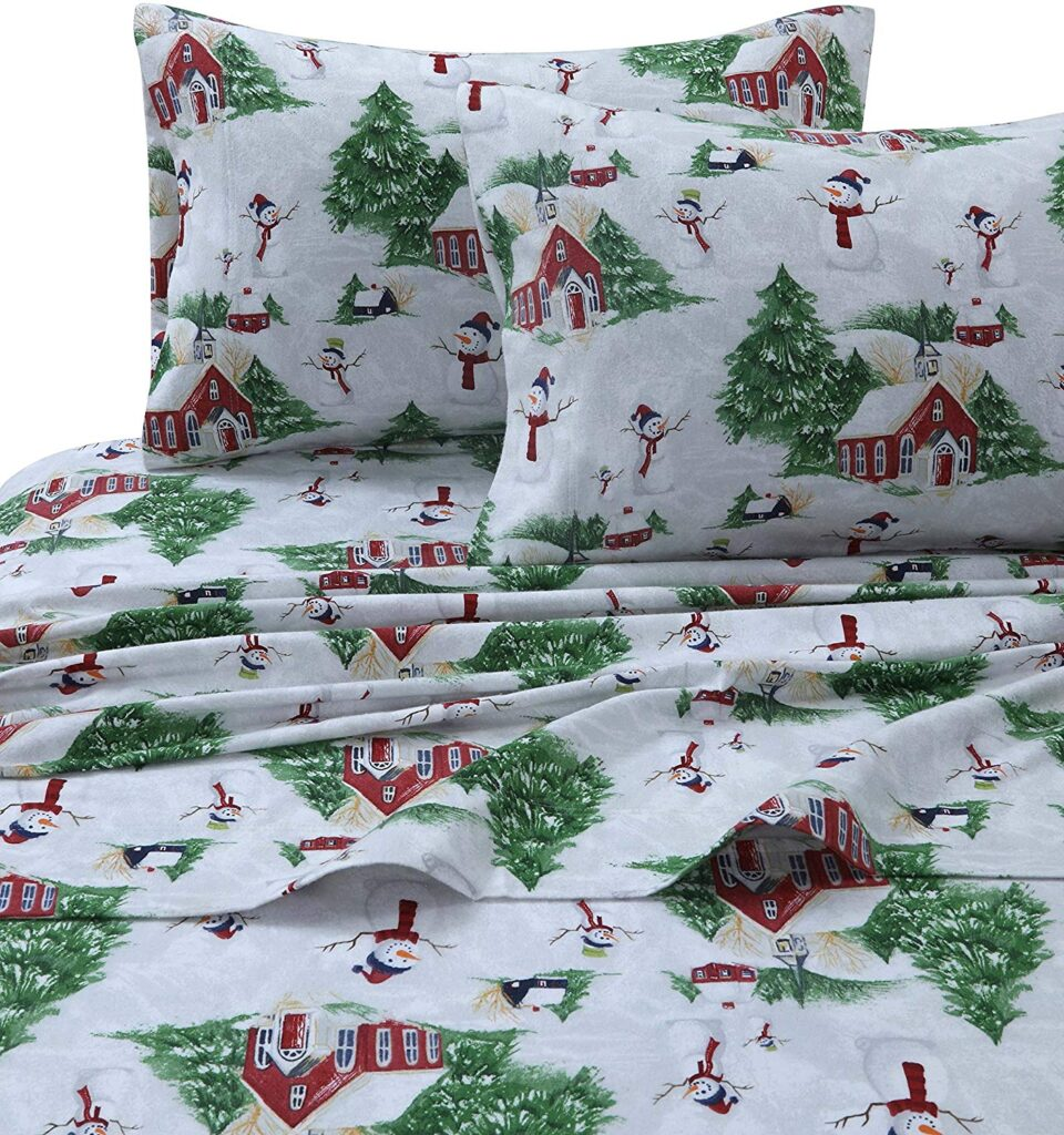 Tribeca Living Christmas Sheets - Best Christmas Sheets Queen Size