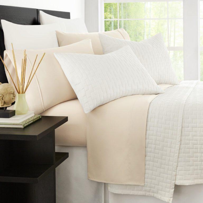Zen Bamboo Luxury Bamboo Sheet Set - Best Sheets for Sweaty Sleepers